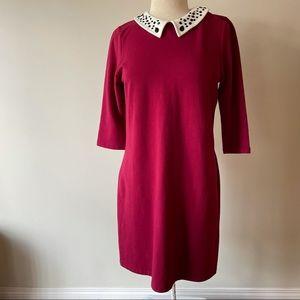 Twik Embellished Collar Dress Red Size XL